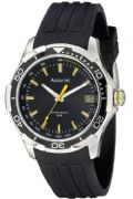 Accurist MS860BB Men's Black Dial Date Silicone Strap Sports Watch